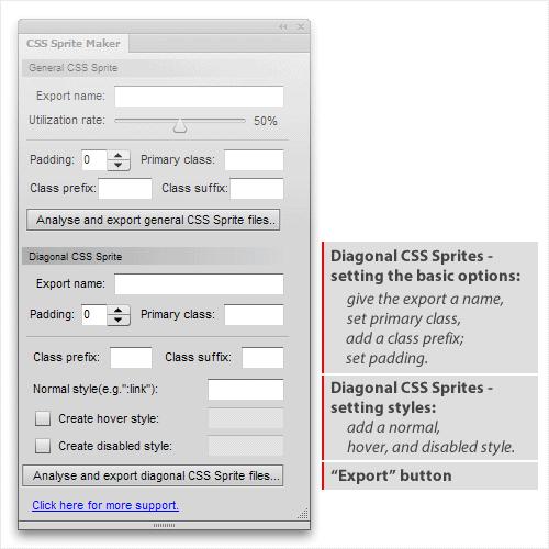 Making diagonal CSS Sprites