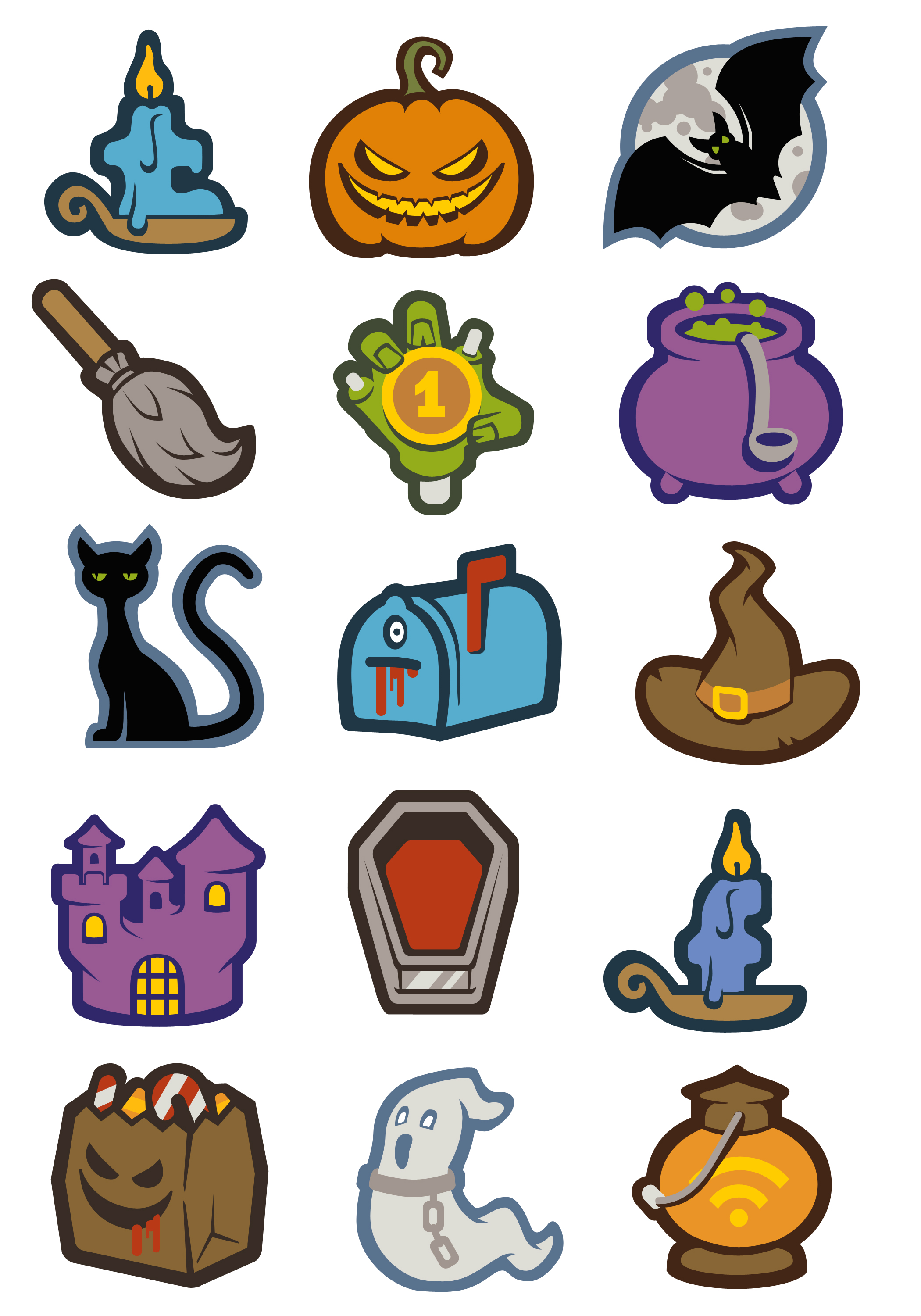 22 Creepy Halloween Icons [Freebie] — Smashing Magazine