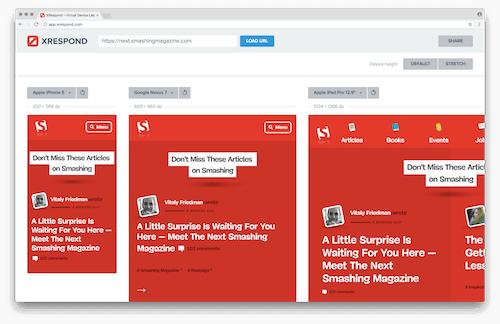 Meet XRespond Testing Tool: Let's Make Building Responsive Websites Simpler