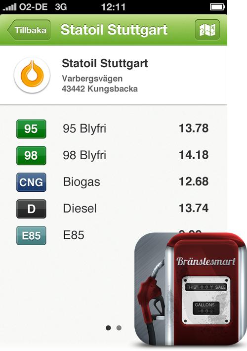 Bränslesmart iOS App by Ivo Mynttinen