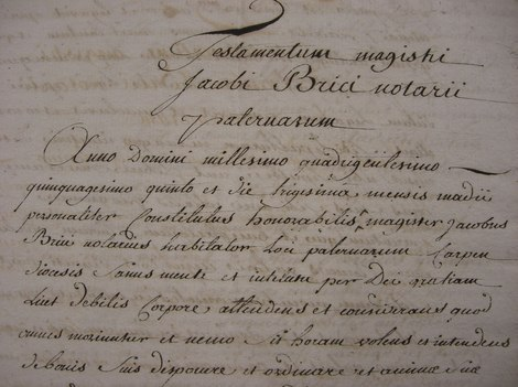 Lettering and Handwriting - French Notarial Handwriting