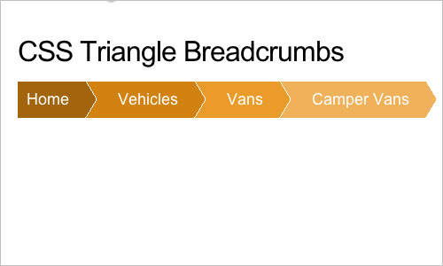 Breadcrumb Navigation with CSS Triangles
