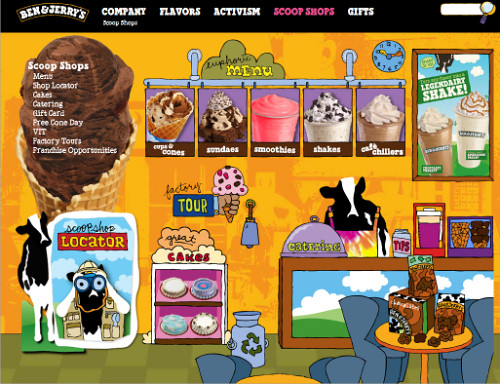 Ben & Jerry's Subpage 1