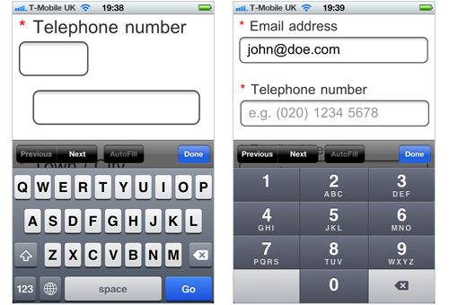 Phone number example