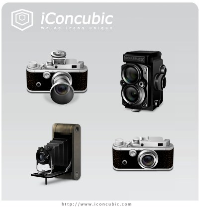 Free High Quality Icon Sets - Classic Cameras Mac Version