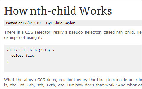 How nth-child Works