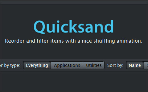 jQuery Quicksand plugin