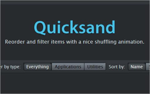 jQuery Quicksand plugin