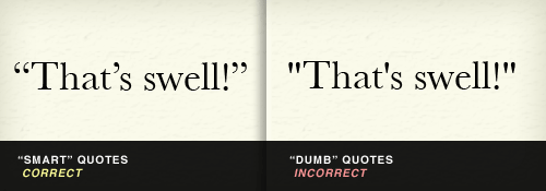 Smart quotes vs. dumb quotes