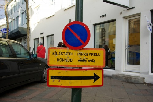 Wayfinding and Typographic Signs - iceland-traffic-sign-reykjavik