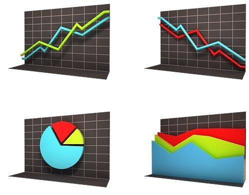 Graphs Icon Set