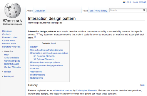 Interaction Design Pattern