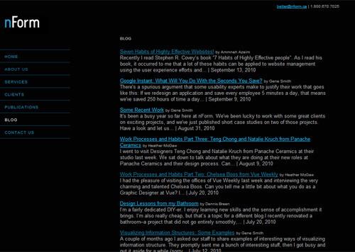 nForm Blog