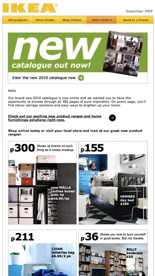IKEA newsletter