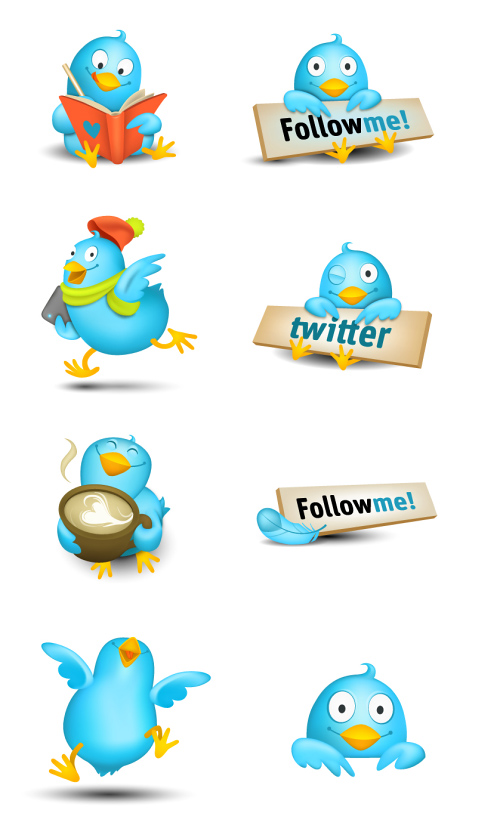 Twitter Icons Sets: Cute Tweeters