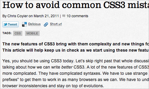 How to avoid common CSS3 mistakes | Feature | .net magazine