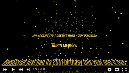 Robin Mehner – JavaScript That Doesn't Hurt Your Feelings