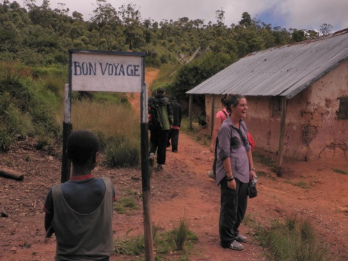Wayfinding and Typographic Signs - bon-voyage-sign-in-a-malagasy-village