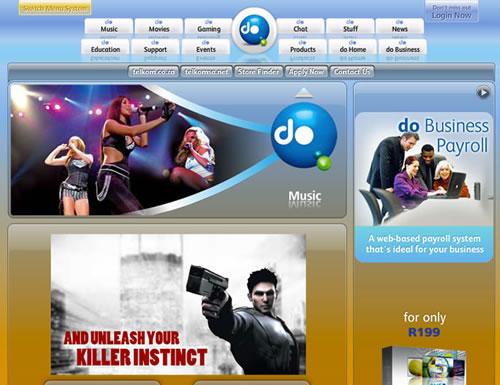 Do.co.za home page