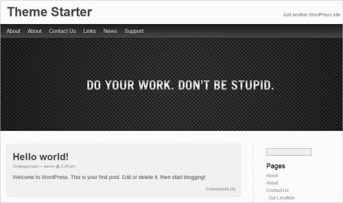Theme Starter Free WP Theme