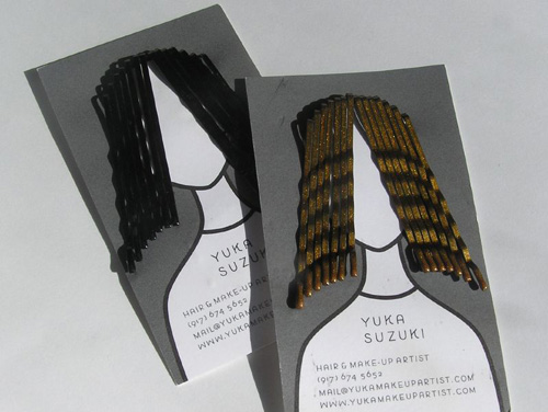 Business card design better than a plain ol business card a useful card for hair styles from yukamakeupartist colourmoves