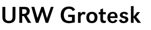 Small sample of the URW Grotesk typeface