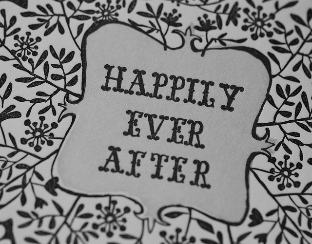 Storybook ending saying Happily Ever After