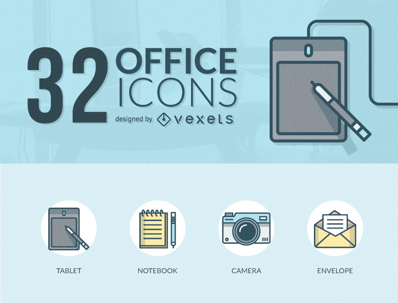 32 Free And Friendly Office Icons