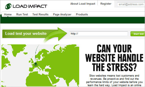 Load Impact - Free web site load test