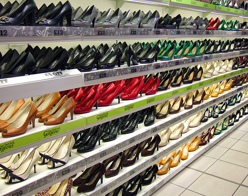 Rows of shoes
