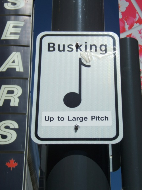 Wayfinding and Typographic Signs - busking