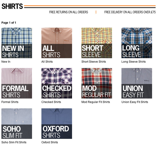 Ben Sherman shirts website