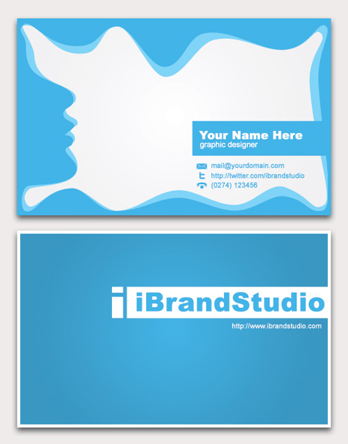 Business Card Design Starter Kit Showcase Tutorials Templates - Free double sided business card template
