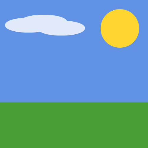 CSS Keyframes Animated Landscape Scene