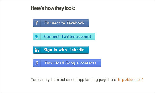 CSS Social Sign-in Buttons