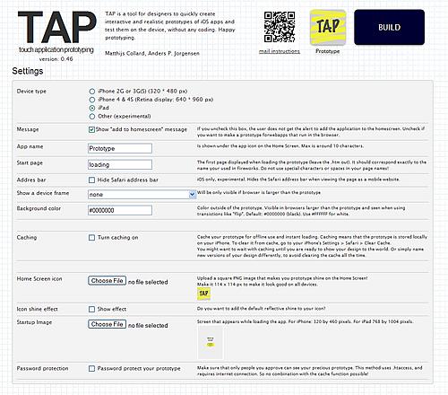 TAP Build Panel
