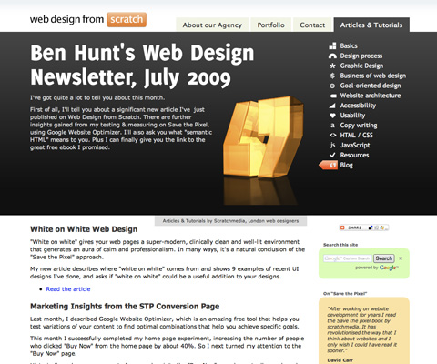 Ben Hunt's Web Design Newsletter