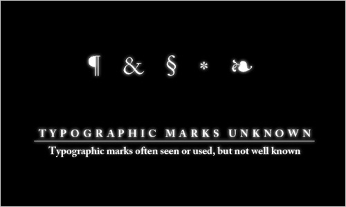 Typographic Marks Unknown