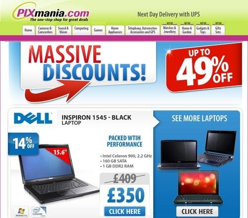 Pixmania newsletter