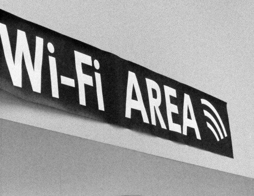 Wayfinding and Typographic Signs - wi-fi-sign