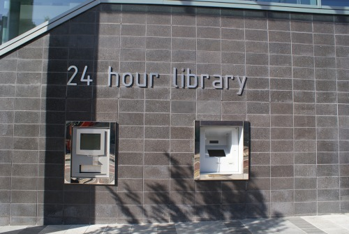 Wayfinding and Typographic Signs - 24hour-library-street-signage