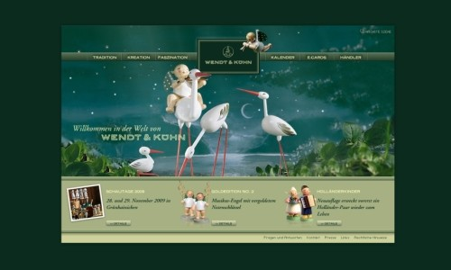 Wendt & Kuehn in Showcase of Web Design in Germany