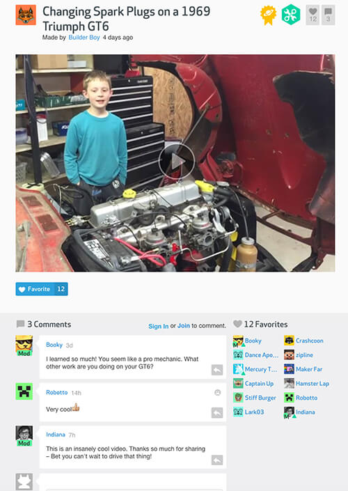 DIY is a great website where kids can share their DIY projects