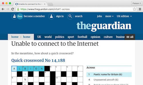 The Guardian's offline crossword puzzle
