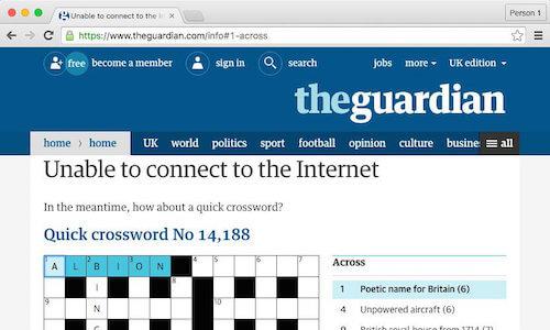 Krzyżówka Guardiana w wersji offline's offline crossword puzzle