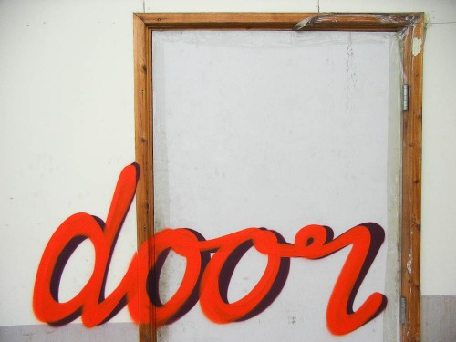 Wayfinding and Typographic Signs - this-is-a-door