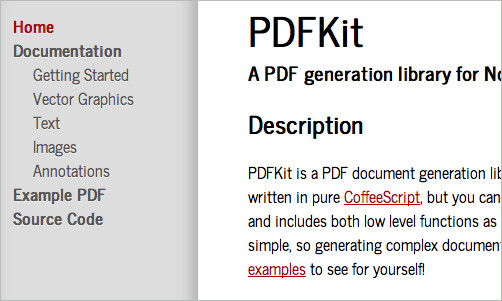 PDFKit - A PDF Generation Library for Node