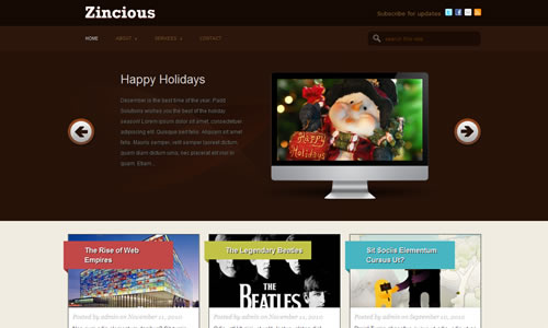 Zincious Free WP Theme