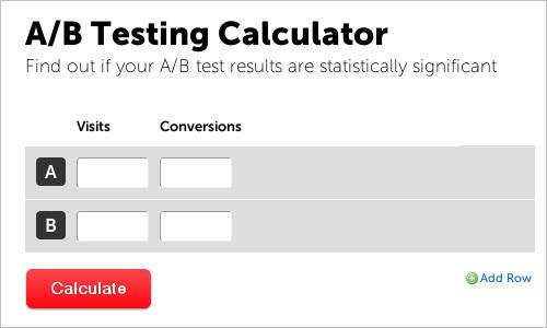 A/B Split Testing Calculator