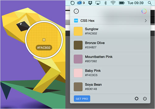 Sip, a handy app which allows global color picking